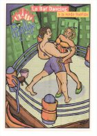REF 174 : CPM Cart'com Balajo Paris Bar Boxe - Boxe