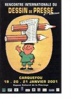 REF 174 : CPM CARQUEFOU Rencontre Du Dessin De Presse - Comicfiguren