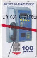Telefonkarte Slowakei 100 Einheiten, Unbenutzt, Kartentelefon-Apparat - Slowakei