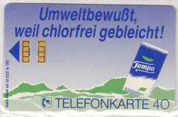 Telefonkarte Deutschland 40 Einheiten, Unbenutzt, Tempo Taschentücher, K 223 01.91 - Deutschland