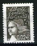 FRANCE 3444° 0,02€  Bistre-noir Marianne De Luquet (10% De La Cote + 0.15€) - 1997-04 Marianne Of July 14th