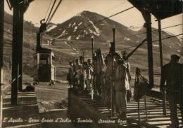 L'AQUILA GRAN SASSO FUNIVIA 1956 - L'Aquila