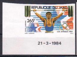 MALI 1984 OLYMPIC GAMES WEIGHTLIFTING IMPERFORATED - Halterofilia