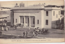 CPA Animée - SAFFI (Maroc) - La Poste Et L'arrivée Du Courrier - Otros