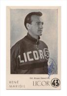 CARTE POSTALE RENE MARIGIL SIGNEE TEAM LICOR 43 1959 - Cyclisme
