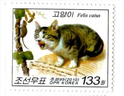 North Corea 2010 - Mouse And Cats, 1 Stamp, MNH - Domestic Cats