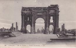 CPA Timgad - Arc De Trojan - Facade Occidentale - Poste Militaire - Cachet Biskra-Constantine - 1917 (3424) - Algerien