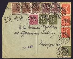 1922 Brief  Von Gerdauen (Ost Prussia)nach Koeningsberg ( Jetzt Zheleznodorozhny Und Kaliningrad, Russland) - Briefe U. Dokumente