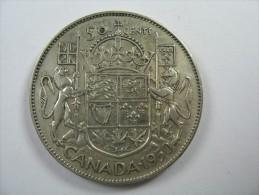 CANADA  HALF DOLLAR 50 CENTS SILVER  COIN 1950 LOT 14  NUM  9 - Canada