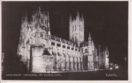 PC Canterbury Cathedral By Floodlight - 1952 (3452) - Canterbury