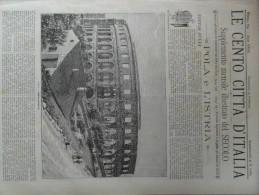 LE CENTO CITTA D ITALIA *POLA   E    L ' ISTRIA* 1894 - Avant 1900