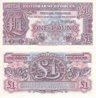 BRITISH ARMED FORCES 1 Pound 1948 FDS UNC - Forze Armate Britanniche & Docuementi Speciali