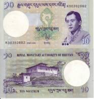 BHUTAN BANCONOTA FDS 10 NGULTRUM 2006 - Bhutan