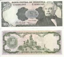 VENEZUELA  BANCONOTA  20 BOLIVARES 1995 UNC FDS - Venezuela