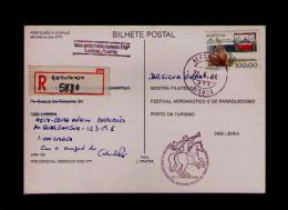 First Flight Helicoptero LISBOA - LEIRIA 1986 Carte Maximum Cards Sp2987 - Helicopters