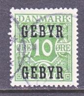 DENMARK   L 1   (o)    LATE FEE - Postage Due