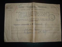 LETTRE PTT REEXPEDITION N°717 OBL. 9-7-1956 MULHOUSE PRINCIPAL (68 HAUT-RHIN) - Marcophilie (Lettres)