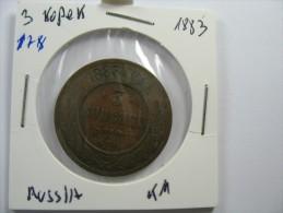RUSSIA 3  KOPEKS KOPEEKS  1883   LOT 14 NUM  19 - Russie