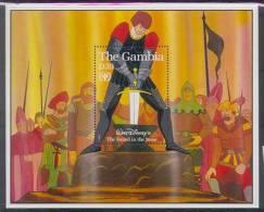 Myh327 WALT DISNEY THE SWORD AND THE STONE GAMBIA 1990 PF/MNH - Disney