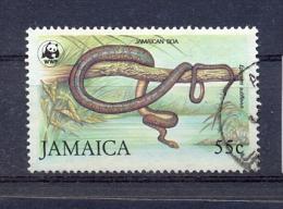 Jamaica 1994, WWF, Snake, Epicrates-Subflavus, Minr 592 Vfu. Cv 12 Euro - Jamaique (1962-...)
