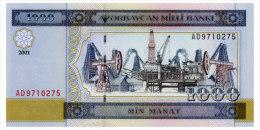 AZERBAIJAN 1000 MANAT 2001 Pick 23 Unc - Azerbaïjan