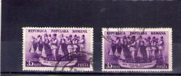 1953 -  ARTS POPULAIRES,  MI No 1432 Et Yv No 1301  VARIETATE DE CULOARE - Usado