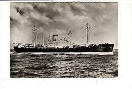 Carte 1950 SOCIETE NAVALE DELMAS VIELJEUX / M.V FRANK DELMAS (bateau Transport ,marine Marchande)n - Cargos