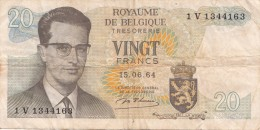 Billets - B1117 -  Belgique    - Billet  20 Francs ( Type, Nature, Valeur, état... Voir 2 Scans) - [ 2] 1831-... : Belgian Kingdom