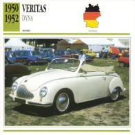 Fiche  -  Veritas   -  1950  -  Carte De Collection - Cars