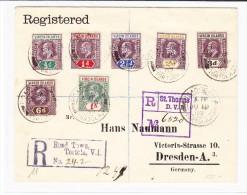 Virgin Islands - R-Brief Tortola 19.6.07 Nach Deutschland Mit AK-O Dresden - Iles Vièrges Britanniques