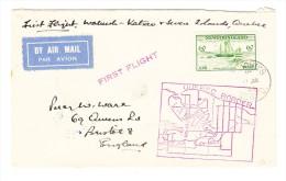 Neufoundland Flugpostbrief 11.7.1933 Erstflug Von St Johns Quebec Nach England - Terre-Neuve