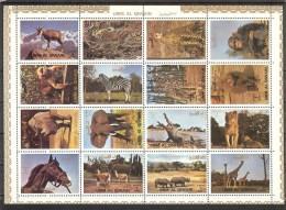 UMM Al QIWAIN  Animals(horse,monkeys,lion ) Sheetlet  MNH - Briefmarken