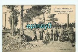 Bf - 56 - GUER COETQUIDAN - GUERRE EUROPEENNE 1914 - Refection Route -  - édit. Vasselier NANTES - Guer Coetquidan