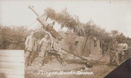 CANON ANTIAERIEN (75 Francais)ET SES SERVANTS ALLEMANDS-CARTE PHOTO ALLEMANDE - Guerra 1914-18