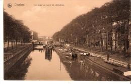 Charleroi-Les Quais Du Canal De Dérivation -Péniches-Edit. Nels, Série Charleroi N°42 - Charleroi