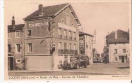 LOUDES (HTE LOIRE)  ROUTE DU PUY ARRIVEE DE L'AUTOBUS (HOTEL VARENNE) - Loudes