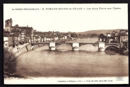 CPA  ANCIENNE- FRANCE- ROMANS-BOURG-DE-PÉAGE  (26)- LES 2 PONTS SUR L'ISERE- GROS PLAN - Frankreich