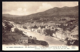 CPA  ANCIENNE- FRANCE- SAILLANS (26)- VUE GENERALE GROS PLAN ET RIVES DE LA DROME- PONT-  CULTURES- - Frankreich
