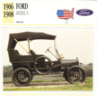 Fiche Auto  -  Ford Model N    -  1906  -  Carte De Collection - Cars
