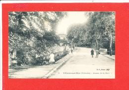 14 VILLERS Sur MER Cpa  Animée  Avenue De La Gare     74 B F Paris - Villers Sur Mer