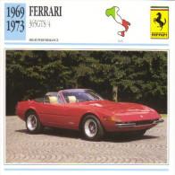 Fiche Auto  -  Ferrari 365GTS/4 Spider    -  1971  -  Carte De Collection - KFZ
