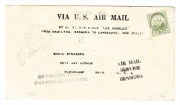 """1925 - Z.R.3 """"Los Angeles"""" Bermuda-Lakerhurst Gedruckter Brief Mit Bermuda 2 1/2 C - Bermudes"""