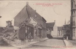 Poperinge  Bombardée        Rue Croix-St-Jean                 1914-1918  WO I     Scan 7142 - Poperinge