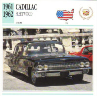Fiche Auto  -  Cadillac Fleetwood 75 Limousine    -  1962  -  Carte De Collection - KFZ