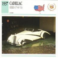 Fiche Auto  -  Cadillac Series 37-90 V16 Hartmann Roadster    -  1937  -  Carte De Collection - KFZ