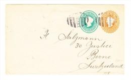 1899 - Hobart Tasmanien Ganzsache  In Die Schweiz Mit Ankunftsstempel Bern 9-XII-99 - 1853-1912 Tasmania