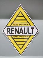 PLAQUE Publicitaire En Tôle RENAULT - Plaques En Tôle (après 1960)