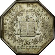France, Jeton, Notary, 1834, SUP, Argent, Lerouge:123 - France