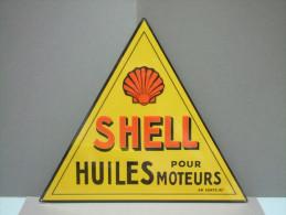 PLAQUE Publicitaire En Tôle SHELL - Advertising (Porcelain) Signs