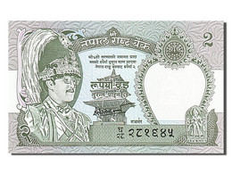 [#255092] Népal, 2 Rupees, Type Roi Birendra Bir Bikram - Nepal